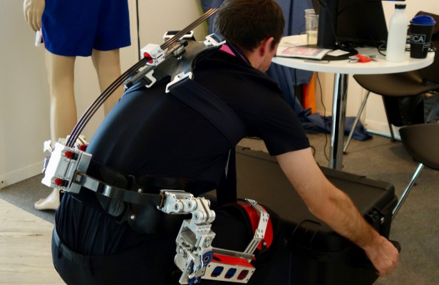 A back support exoskeleton